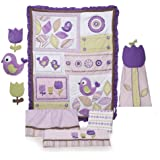 Kids Line 8 Piece Crib Bedding Set, Tweet (Discontinued by Manufacturer)