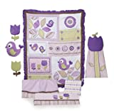 Kids Line 8 Piece Crib Bedding Set, Tweet