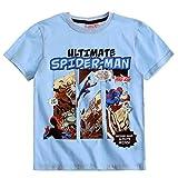 Spiderman - Camisa - Cuello redondo - para niño Multicolor azul