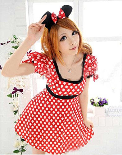 Hot & Sexy Adult Women Minnie Mouse Costume Halloween Fashion Outfit Fancy Dress