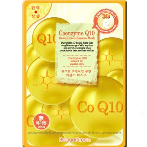 Beauu Green 3D Shape Facial Mask Sheet Pack - Coenzyme Q10