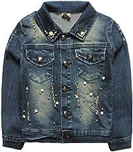 eTree Girls39 Button Collar Denim Nail Bead Knitting Girl Pattern Coats