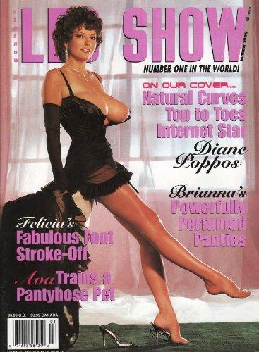 Leg Show Magazine March Diane Poppos Amazon Co Uk Hustler