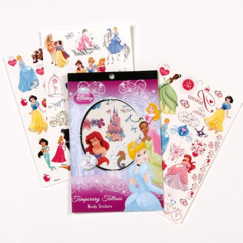 Disney Princess Over 50 Temporary Tattoos - 1
