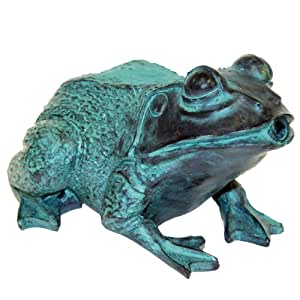 Beckett corporation frog spitter without pump for Garden pond amazon