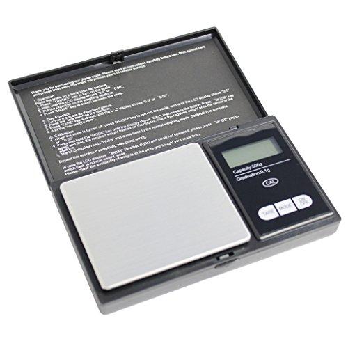 Balance numérique de poche très précise pour bijoux, série signature noire, 500g à 0.1 Grammes par KurtzyTM