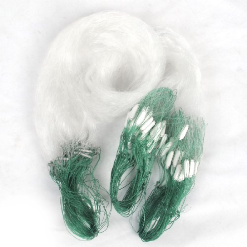 25M Clear White Green Monofilament Fishing Fish Gill Net W Float front-918189