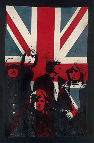 Floyd on Vintage Union Jack XL (Giclée edizione limitata di 75) Art Print by ibrida, 64x 100cm