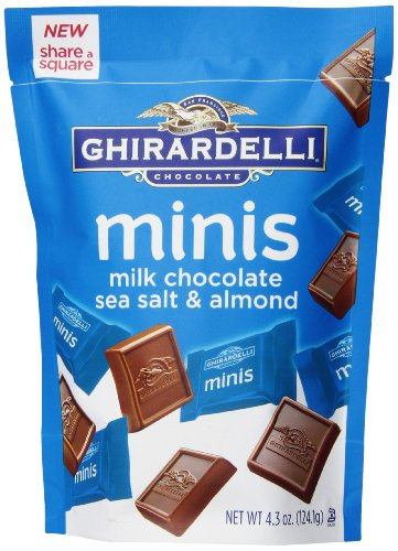Ghirardelli Minis Pouch, Chocolate Sea Salt and Almond, 4.3 oz. (Ghirardelli Sea Salt Chocolate compare prices)
