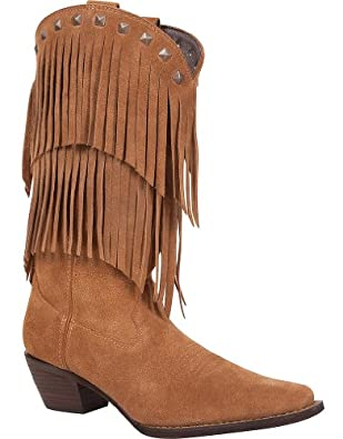 Buy Durango Ladies Fringe SnipToe 12in DesertBoots 8.5 by Durango
