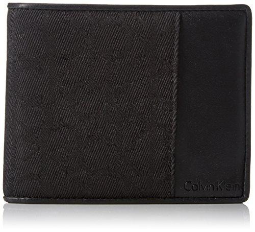 Calvin Klein Jeans Power Logo 10CC + Coin + Pass, Portafogli Uomo, Nero (Black 001 001), 38x37x8 cm
