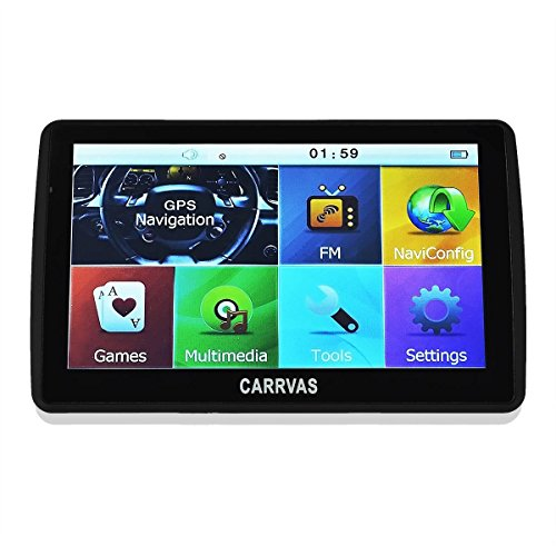 "CARRVAS 7.0"" Touch Screen Vehicle GPS Portable Sat Nav 8GB ROM + 128MB RAM with Preloaded US Maps"