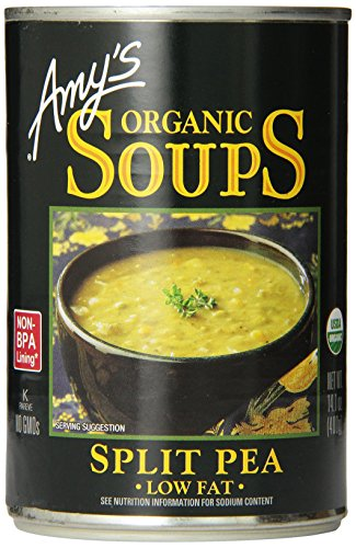 Amy's Organic Soups, Low Fat Split Pea, 14.1 Ounce (Pack of 12) (Split From Earth compare prices)