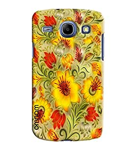 Omnam Yellow Flower Pattern Beautifully Printed Designer Back Cover Case For Samsung Galaxy Core i8262