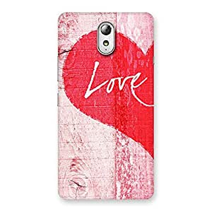 Stylish Love Pink Multicolor Back Case Cover for Lenovo Vibe P1M
