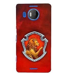 EPICCASE Lion roaring Mobile Back Case Cover For Microsoft Lumia 950 XL (Designer Case)