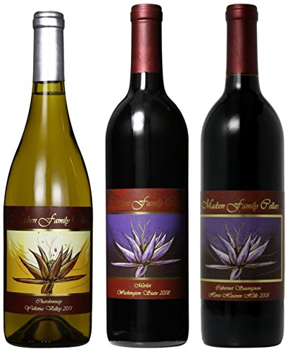 "Madsen Family Cellars ""Vivacious On Valentines Day"" 2 Reds And A White Mixed Pack, 3 X 750 Ml"