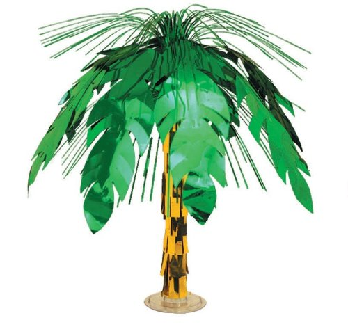 Beistle 50556 Palm Tree Cascade Centerpiece, 18-Inch