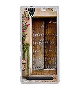 Vintage Door 2D Hard Polycarbonate Designer Back Case Cover for Sony Xperia T2 Ultra :: Sony Xperia T2 Ultra Dual SIM D5322 :: Sony Xperia T2 Ultra XM50h