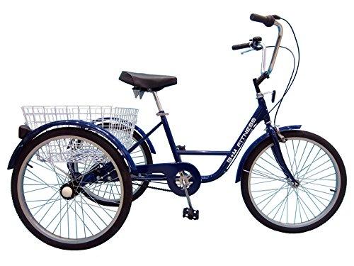 B+M Fitness Dreirad 24 Zoll Fahrrad Behindertenfahrrad Therapierad mit Shimano Nexus 3-Gang Schaltung