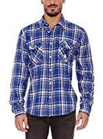 BIAGGIO Camisa Hombre Chimy (Azul)
