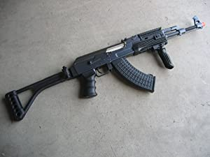 DE Ak-47S Metal Automatic Electric Airsoft Assault Gun 425 FPS Black