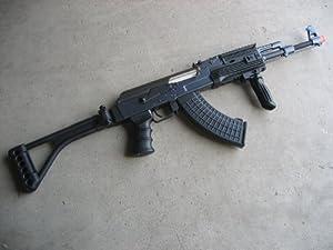 DE Ak-47S Metal Automatic Electric Airsoft Assault Gun 425 FPS Black