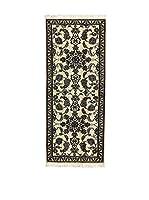 L'Eden del Tappeto Alfombra Nain K Beige / Azul / Negro 80 x 189 cm
