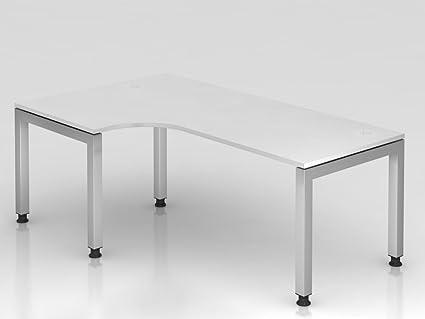 Supporto tavolo u rettangolare, 200x 120cm, gomito 90°, bianco
