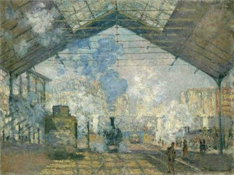 Oil Painting 'Saint-Lazare Station, Exterior View, 1877 By Claude Monet' Printing On Perfect Effect Canvas , 20x27 Inch / 51x68 Cm ,the Best Gym Gallery Art And Home Decor And Gifts Is This High Resolution Art Decorative Canvas Prints (Gas Station Lightning compare prices)