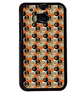 Printvisa Circular Pattern Brown And Orange Back Case Cover for HTC One M8::HTC M8
