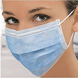 100 Pcs OF DISPOSABLE SURGICAL FACE MASK BLUE COLOR (GREEN)