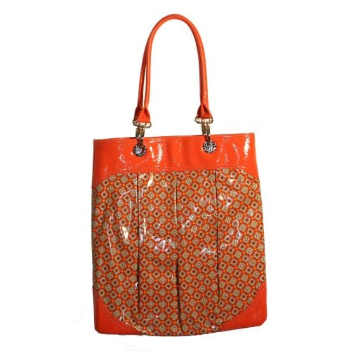 Amazon.com: Vera Bradley SOI Vinyl Tote Paprika Bag