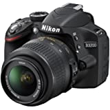 Nikon D3200 Digital SLR Camera with 18-55mm VR Lens Kit - Black (24.2MP) 3 inch LCD
