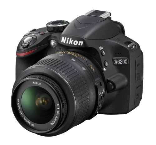 Nikon D3200 Digital SLR Camera with 18-55mm VR Lens Kit – Black (24.2MP) 3 inch LCD