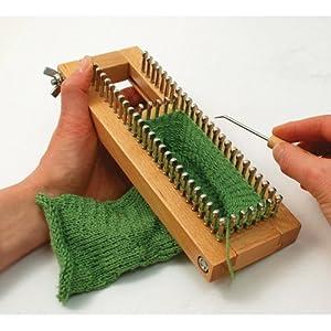 Amazon.com: KB Sock Loom Adjustable Wood Knitting Board Kit w/ DVD: Home &...