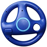 Generic Mario Kart Racing Steering Wheel for Nintendo Wii Remote, Blue