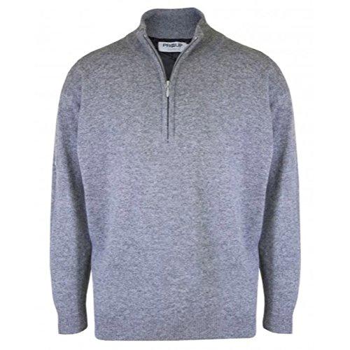 proquip-water-repellent-lambswool-half-zip-lined-sweater-grey-mix-l