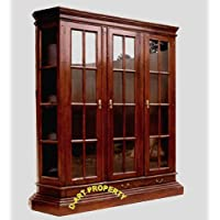 D-ART Barrister Lawyer Bookcase Curio in Mahogany Wood