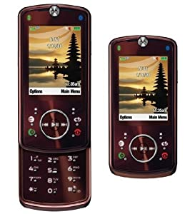 Motorola Z9 GSM Rizr 2  Unlocked Cell Phone with Camera, Large LCD Display--International Version with Warranty (Red)