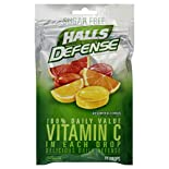 Halls Defense Vitamin C Supplement Drops, Sugar Free, Assorted Citrus, 25 drops