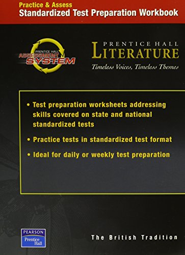 PRENTICE HALL LITERATURE TIMELESS VOICES TIMELESS THEMES 7TH EDITION    TEST PREPARATION WORKBOOK GRADE 12 2002C