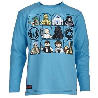 Lego Wear Jungen T-Shirt Star Wars THOR 155 - Yoda T-SHIRT L/S, Gr. 104, Türkis (741 TURQUISE)