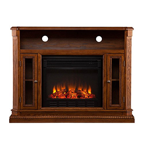 TV Promote Electric Fireplace Media Console Entertainment Center Storage Cabinet Remote Control Flames