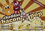 J&D's Cheddar BaconPOP, Cheddar Bacon Flavor Microwave Popcorn, 9 oz Box in a Gift Box