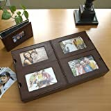 Bonded Leather Photo Album Tray - Dark Brown ~ CRI
