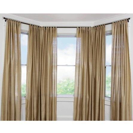 Umbra Bayview Drapery Rod System for Bay Windows, Black
