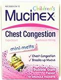 Mucinex Children's Jr Str Mini-Melts, Bubble Gum, 12-Count (Pack of 2)