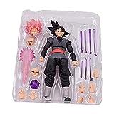 BATOP 15cm SHF Dragon Ball Super: Goku Black zamasu s.h. figuarts PVC Action Figure Collection Model Kids Toy Doll (Color: No Box, Tamaño: 6 inches)