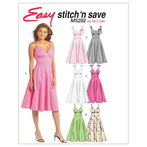 McCall's Patterns M5292 Misses' Dresses, Size B (12-14-16-18)